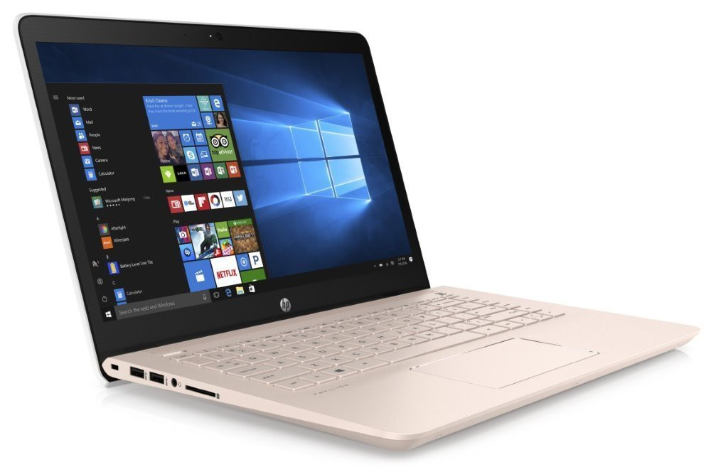 "HP Pavilion 14-bk007nc/ i5-7200U/ 8GB/ 256GB SSD+1TB (5400)/ GF 940MX 4GB/ 14"" FHD IPS/Antiglare/Win 10H/Pale Rose Gold 1UY61EA#BCM"
