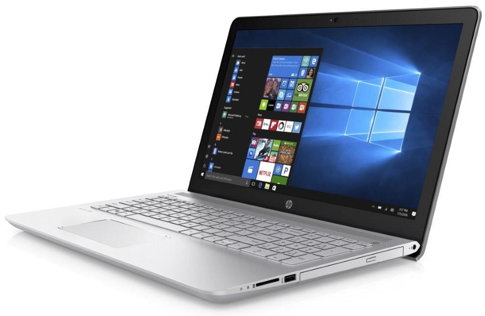 "HP Pavilion 15-cc004nc/ i3-7100U/ 8GB DDR4/ 128GB SSD + 1TB (5400)/ Intel HD 620/ 15,6"" FHD IPS/ DVD-RW/ W10H/ stříbrný 1UZ91EA#BCM"