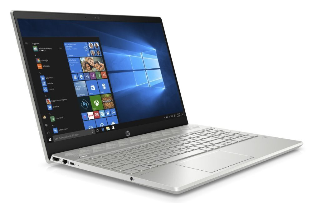 "HP Pavilion 15-cs0008nc/ i5-8250U/ 8GB DDR4/ 128GB SSD + 1TB (5400)/ GeForce MX130 2GB/ 15,6"" FHD IPS/ W10H/ stříbrný 4DG84EA#BCM"