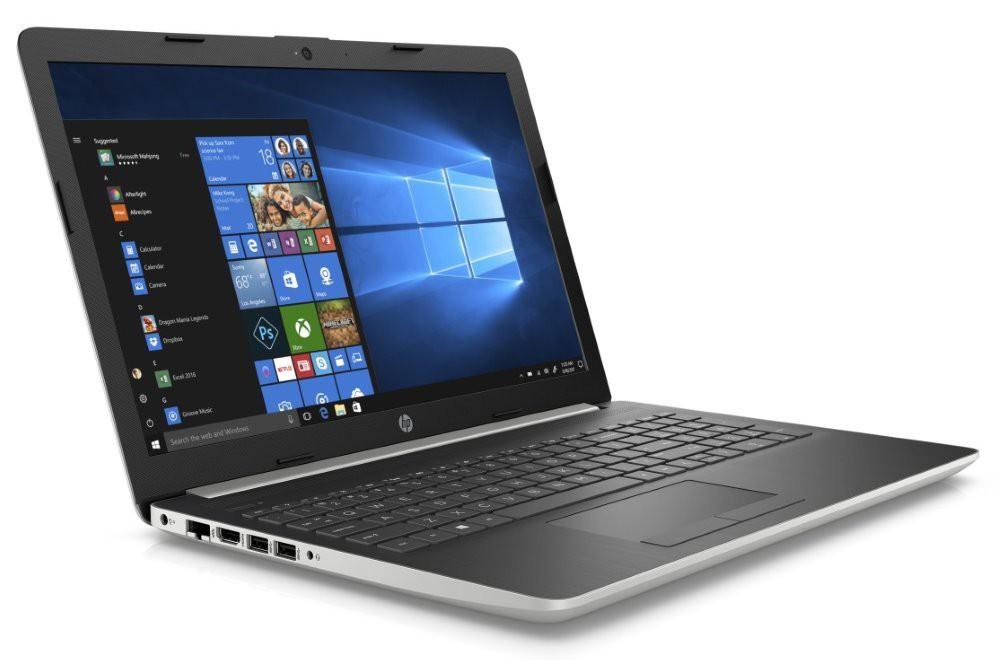 """HP 15-da0000nc/ Core i5-8250U/ 8GB DDR4/ 256GB SSD/ GeForce MX130 4GB/ 15,6"""" FHD SVA/ DVD-RW/ W10H/ stříbrný 4FP43EA#BCM"""