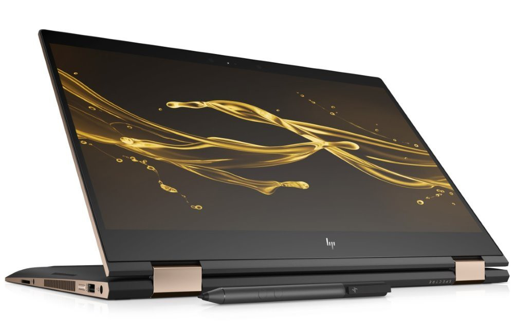 """HP Spectre x360 15-ch008nc/ i7-8550U/ 16GB DDR4/ 512GB SSD/ GeForce MX150 2GB/ 15,6"""" UHD IPS Touch/ W10H/černý+stylus 4UL14EA#BCM"""
