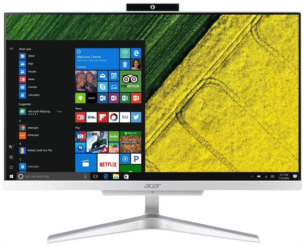 "Acer Aspire C22-320/ 21,5"" AiO FHD/ A6-9225/ 4GB DDR4/ 1TB (5400)/ Radeon R4/ W10H/ stříbrný DQ.BBJEC.002"
