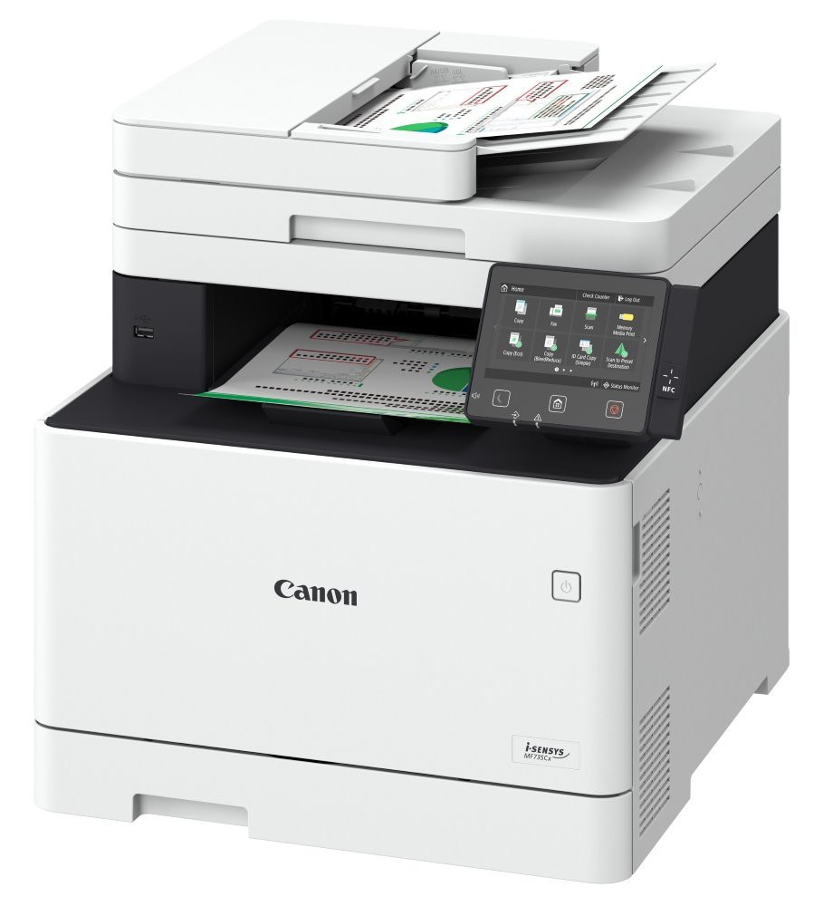 CANON i-SENSYS MF735Cx / A4 / tisk+scan+fax27ppm/ 600x600dpi / LAN/ WiFi/ USB/ PCL/ PS3/ DADF/ duplex 1474C001