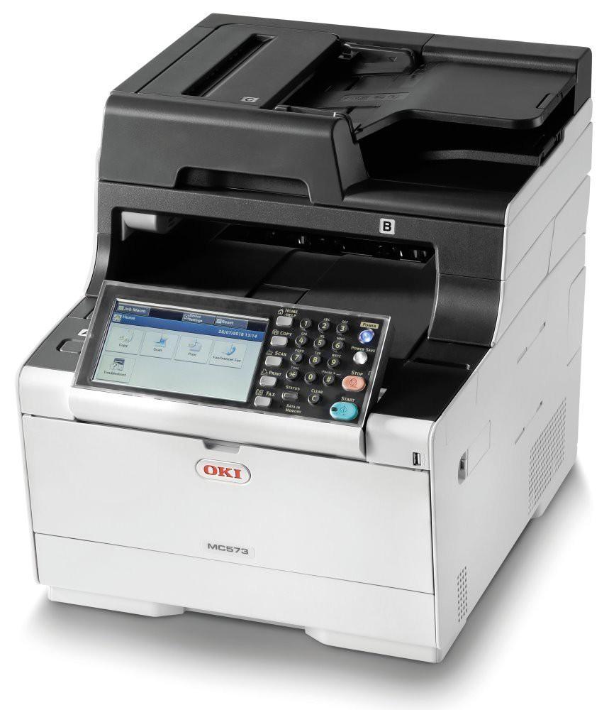 OKI MC573dn/ A4/ 30ppm/ 1200x1200 dpi/ PCL+PS/ RADF/ USB/ LAN 46357102