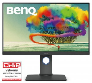 """BENQ 27"""" LED PD2700U/ FF/ LBL/ IPS panel/ 3840x2160/ 20M:1/ 5ms/ HDMI/ DP/ USB/ repro/ Pivot/ černý 9H.LHALB.QBE"""