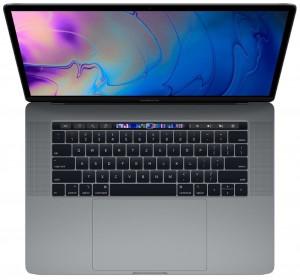 """Apple MacBook Pro 15"""" Touch Bar/6-core i7 2.6GHz/16GB/256GB SSD/Radeon Pro 555X w 4GB/Space Grey - CZE KB mv902cz/a"""