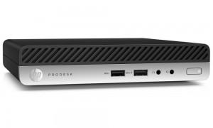 HP ProDesk 400 G4 DM/ i3-8100T/ 4GB DDR4/ 128GB SSD/ Intel UHD 630/ W10P+usb klávesnice a myš 4HS23EA#BCM