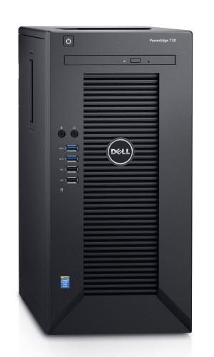 DELL PowerEdge T30/ Xeon Quad Core E3-1225 v5/ 16GB/ 2x 120GB SSD + 2x 2TB 7200 ot. R1+R1/ DVDRW/ 3YNBD on-site T30-2121622-3PS