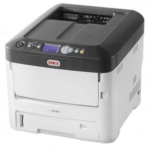 OKI C712dn, A4, čb/bar, 36/34 ppm, 1200x600 dpi, 256MB RAM, PCL5c + PS3, USB/ LAN, Duplex 46551102