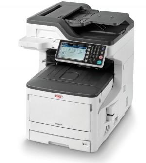 OKI MC853dn/ A3/ 23ppm/ ProQ 2400 dpi / PCL+PS/ Duplex/ Fax/ ADF/ USB/ LAN 45850404