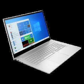 """HP ENVY 17-ch0002nc/ i5-1135G7/ 16GB DDR4/ 1TB SSD/Nvidia GeForce MX450/17,3"""" FHD lesklý/ dotykový/W10P/stříbrný 44X44EA#BCM"""