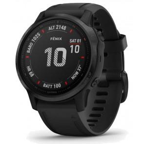 GARMIN GPS chytré hodinky fenix6S Glass, Black/Black Band (MAP/Music) 010-02159-14