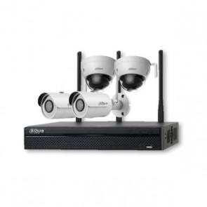 DAHUA KIT NVR 4ch WiFi + 2x bullet + 2x dome venkovní WiFi kamera 3Mpix/ IR30m/ CZ SW a menu KIT-4C IN-W