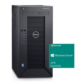 DELL PowerEdge T30/ Xeon Quad Core E3-1225 v5/ 8GB/ 2x 1TB SATA RAID 1/ DVDRW/ GLAN/ 3Y PS/ Win Svr 2016 Essentials SVD031620S